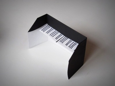 Origami - How to make a Piano