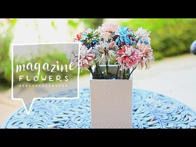 Room Decor | Magazine Flowers DIY | Decorate Your Room (Upcycling)