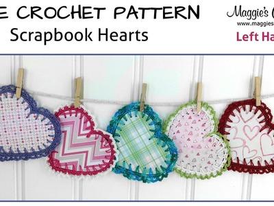 Scrapbook Hearts Free Crochet Pattern - Left Handed