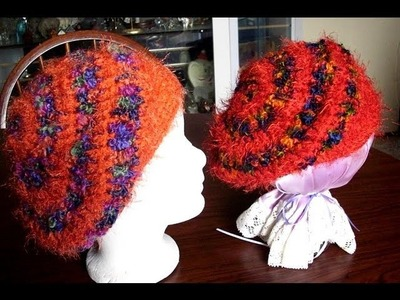 Spiral Slouchy Hat 1 supplies