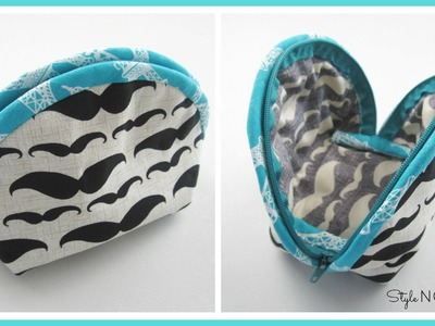 {Step-by-Step Sewing} DIY Make-Up Bag - No. 2