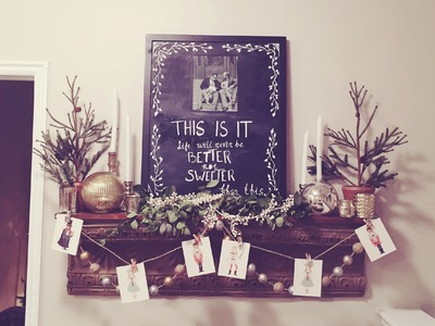 Tutorial on How to Diy Holiday Christmas Mantle decoration!
