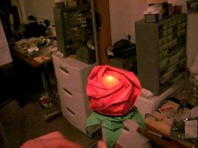 Valentine's Day Origami Rose Throbbing LED
