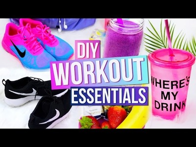 Workout Essentials! DIY Water Bottle, Smoothie Recipe & More!