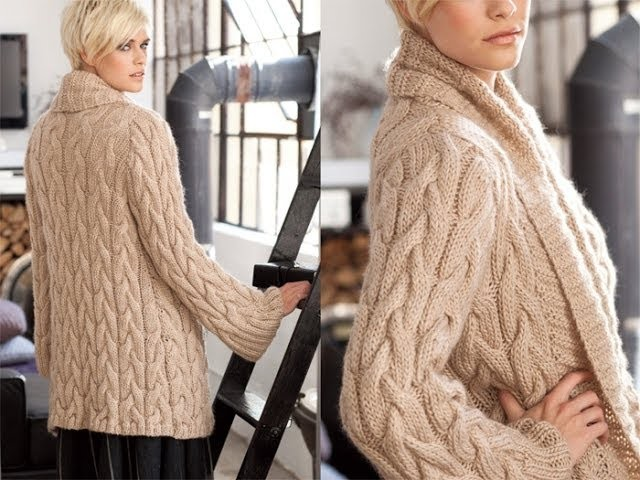 #9 Cabled Cardigan, Vogue Knitting Winter 2011.12