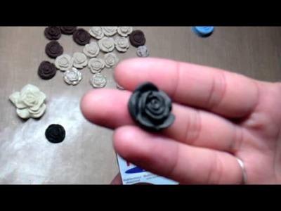 Cameo-like Clay Roses Tutorial