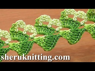 Crochet Pattern Lace Ribbon Tutorial 19 Asymmetrical Crochet Tape