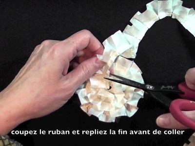 Déco pour arbre de Noël en ruban - Ruffled Ribbon Xmas Ornament