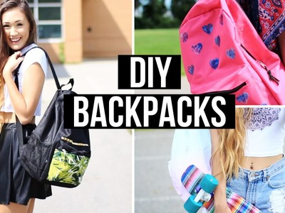DIY Backpacks For Back To School 2014 | LaurDIY