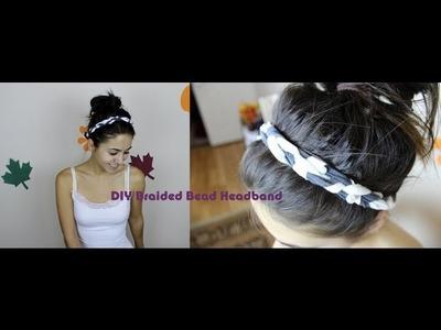 DIY: Braided Bead Headband (No Sewing Required!)