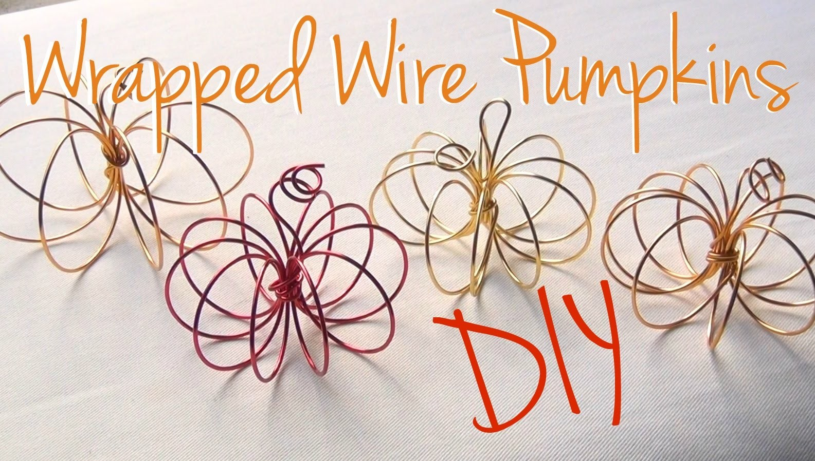 DIY Décor ♥ Wrapped Wire Pumpkins