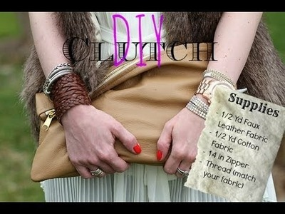 DIY Designer Clutch + Tips on How to Start Sewing