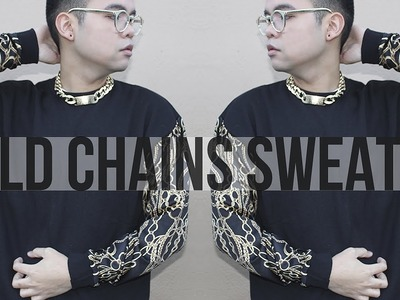 DIY: Gold Chains Sweater!