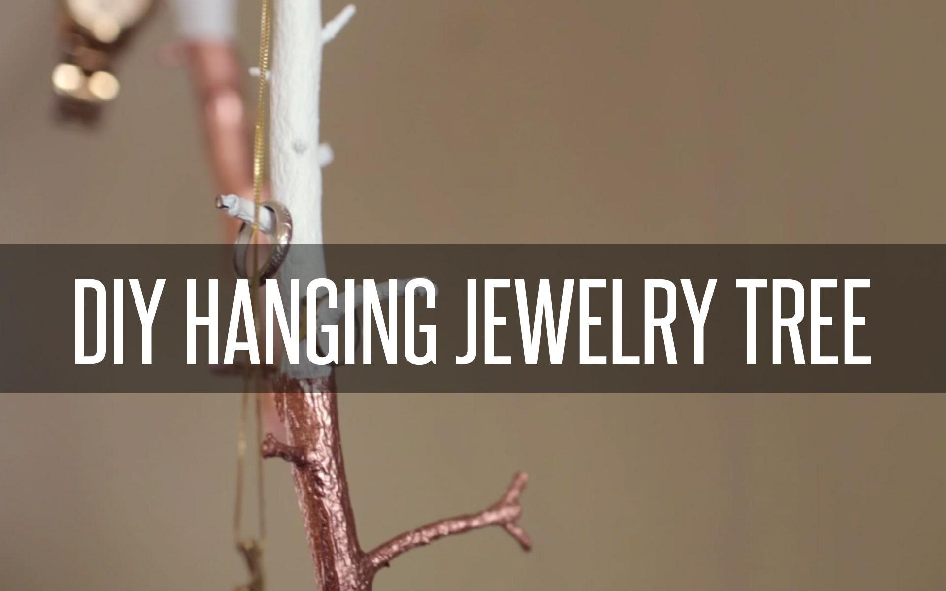 DIY HANGING JEWELRY TREE