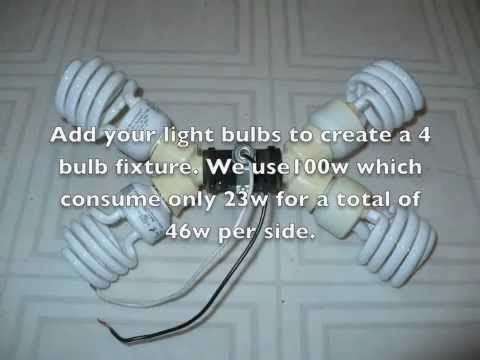 DIY How to make a cheap CFL 800w compact flourecent grow light