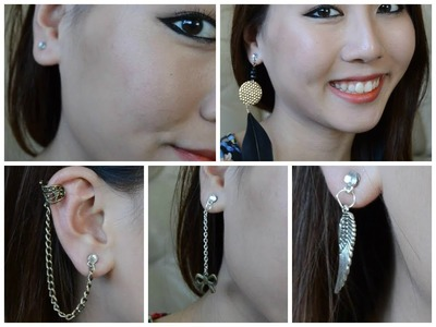 ✂ DIY: Magnetic Earrings | Fake Cartilage, Feather, Ear Cuff