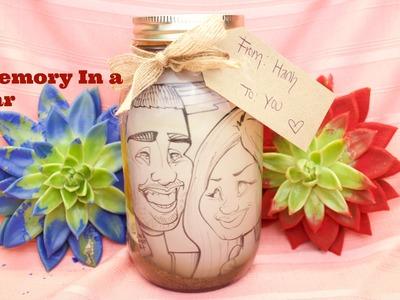 DIY Memory in a Jar (Mason Jar Gift Ideas)