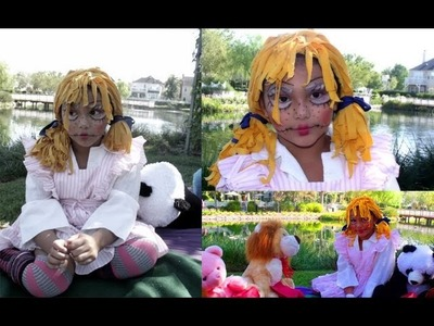 DIY Rag doll Wig, Makeup & Costume!