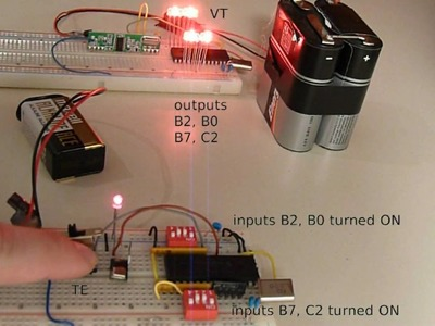 DIY remote control based on PIC microcontroller