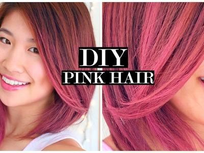 DIY Temporary Pink Ombre Hair + Fake Short Hair!