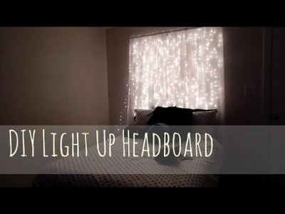 Easy Cheap DIY Light Up Headboard!