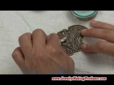 Filigree Beads: Using Gilders Paste with Filigree