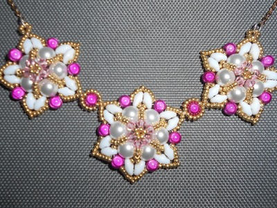 Fuchsia Fantasy Necklace Beading Video Tutorial by Ezeebeady by Ezeebeady