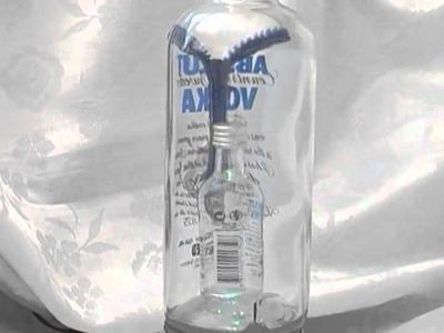 Glass Bottles Cutting Art - ABSOLUT VODKA is Pregnant. .