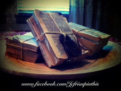 How to DIY Make Aged Old Vintage Restoration Hardware Boundless books paper