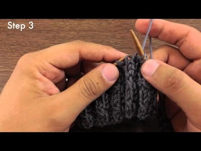How to Knit the Left Twist Stitch (English Style)