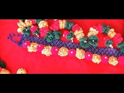 How to make flowers using yarn