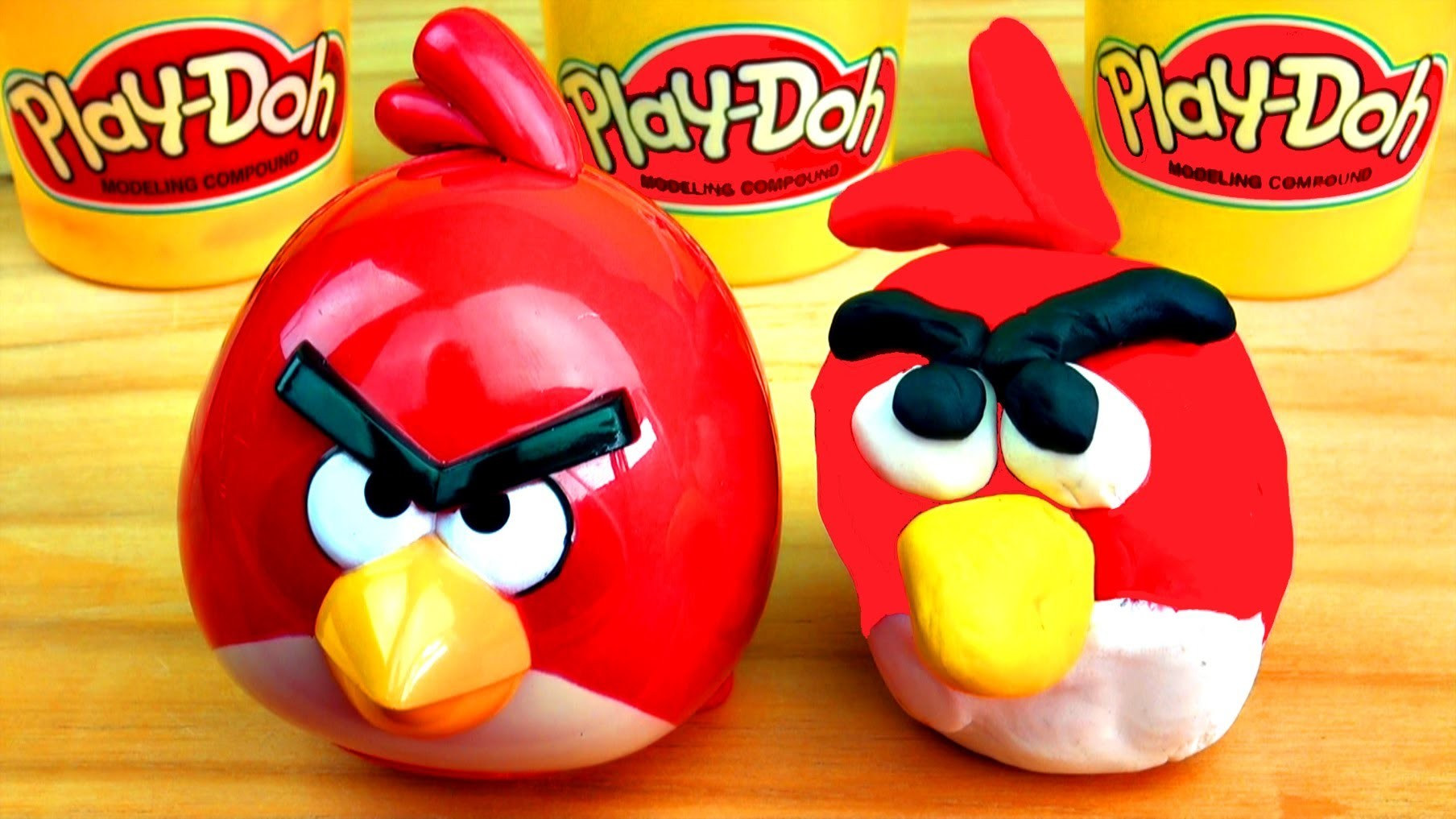 How-to Make Play Doh Angry Birds RED BIRD Playdough DIY Play-Doh Creations & fun ideas!