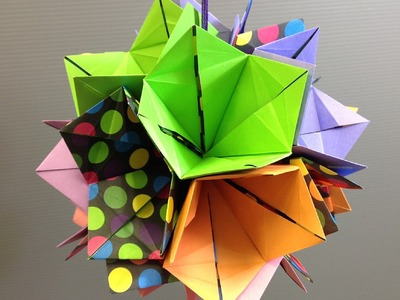 Make a Colorful Origami Bell Flower Kusudama