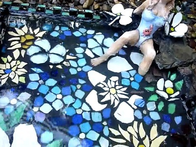 Mosaic Art and Craft Birdbath - OzMosaics Australia