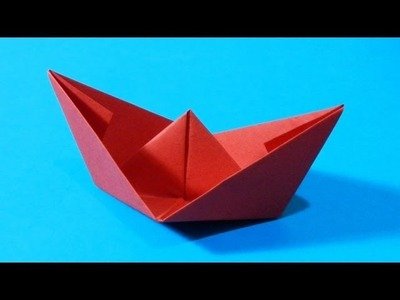Origami - How to fold a Boat