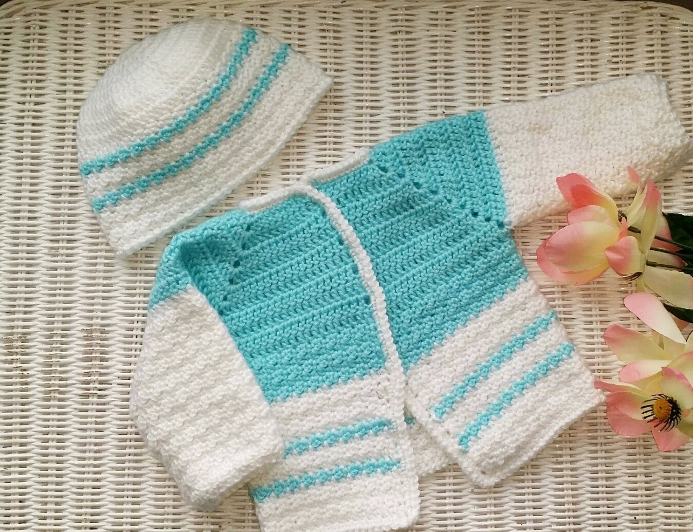 Pt 2 **Left Hand** Precious Baby Cardigan Sweater