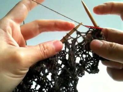 Raindrop Shawl Chart G Knitting at Right Angle