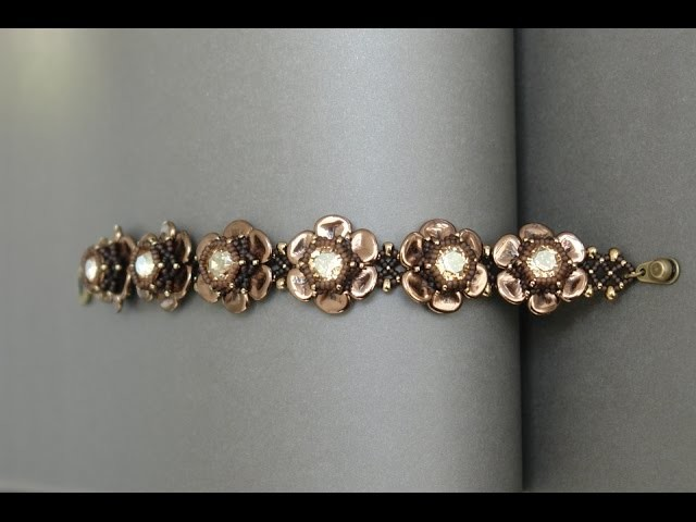 Rose Petals Bracelet - Beading tutorial by Sidonia's handmade jewelry