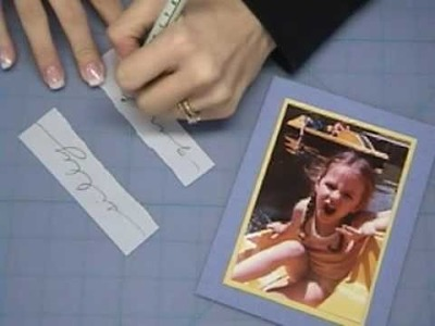 Scrapbooking with Mats and Frames