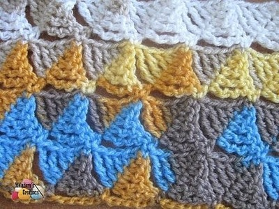 Wedge Stitch - Left Handed Crochet Stitch Tutorial