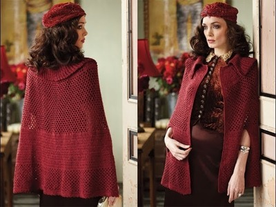 #23 Mesh Cape, Vogue Knitting Crochet 2013 Special Collector's Issue