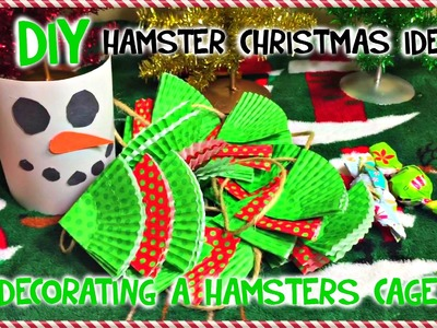 3 DIY HAMSTER CAGE Christmas Ideas | Decorating your Hamster's Cage