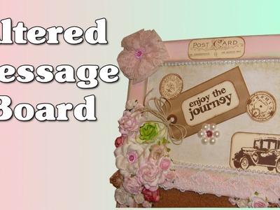 "Altered Message Board ""Enjoy the Journey"" Yard Sale Crafts"