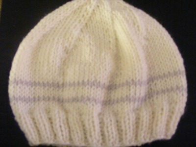 Basic Knitted Baby Hat 0-3 months