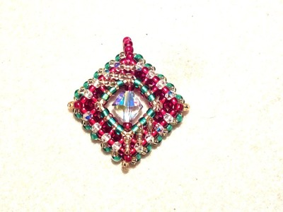 Beading4perfectionists: Cubic Right Angle Weave (CRAW): Beading a square. Beading tutorial