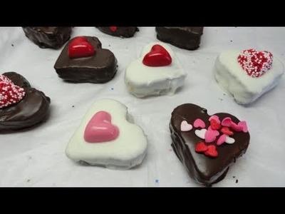 Chocolate Covered Valentine Heart  Brownie  Bites