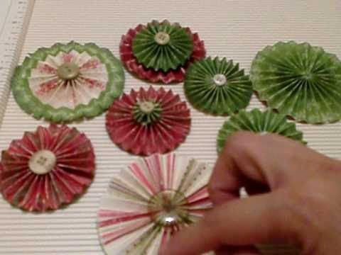Christmas Paper Rosettes Tutorial