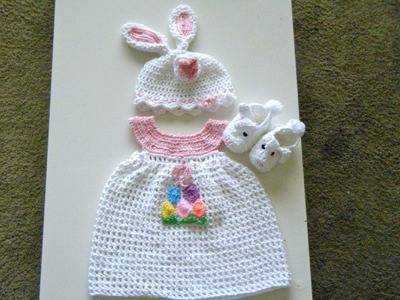 Crochet Baby dress set for Easter