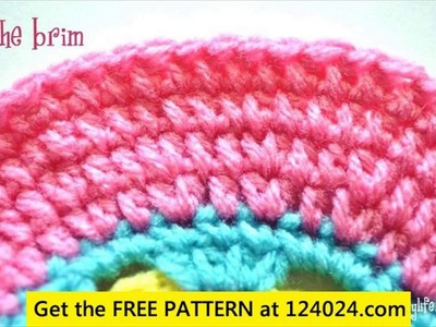 Crochet baby newsboy hat tutorial