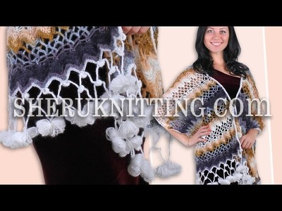 Crochet Lace Wrap Shawl Model 1